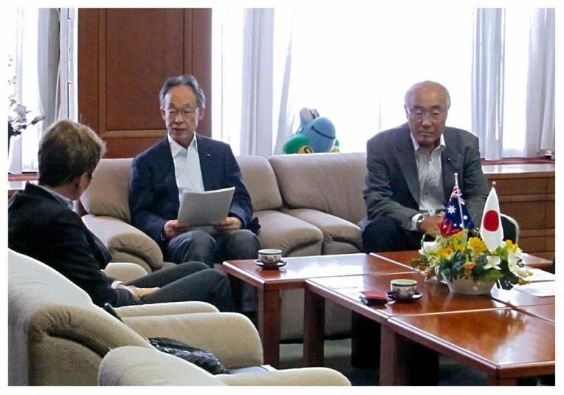 2012年9月5日 在福岡オーストラリア総領事表敬訪問
