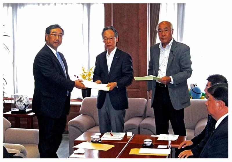 2012年9月5日 佐賀県舗装部会からの要望