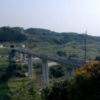 九州新幹線西九州ルート長崎県側(千綿大橋より)
